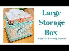 In this tutorial, I show you how to make a brilliant, very strong storage box, I have made this to fit my 6 x 6 paper packs however you can use it to store m. Diy Recycled Storage, Diy Storage Boxes, Card Storage, Craft Room Storage, Paper Storage, Craft Rooms, Storage Ideas, Easy Diy Gifts, Diy Gift Box