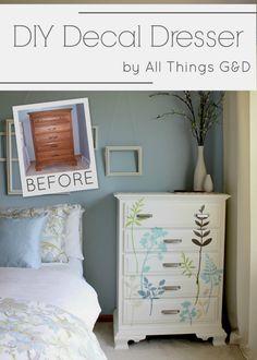 DIY Decal Dresser by All Things G&D #allthingsgd