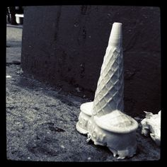 A lonely cone.