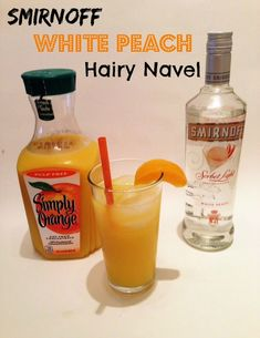 Smirnoff White Peach Hairy Navel Recipe