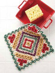 Wiggly Crochet Dishcloths Wiggly Crochet Patterns, Crochet Square Pattern, Crochet Squares, Crochet Motif, Crochet Yarn, Crochet Scrubbies, Crochet Granny, Granny Squares, Crochet Hot Pads
