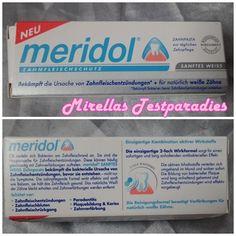 Die neue Zahncreme meridol® Sanftes Weiss   Mirellas Testparadies