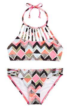 cfa3a60f44f50 Billabong Zigginz Two-Piece Swimsuit (Little Girls & Big Girls) | Nordstrom