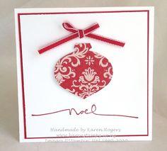 kareN stampZ: Really quick Christmas cards!