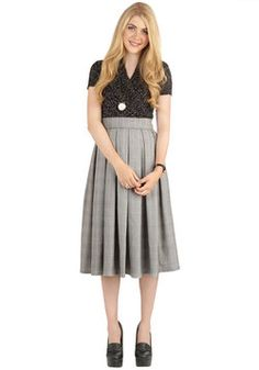 Leader of the Stacks Skirt. Perusing through aisles of books in this pleated skirt is a dream you bring to live! #multi #modcloth