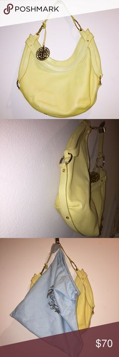 ✨Yellow Juicy Purse ✨ Barely used Juicy purse with its original pouch to store it in. Only one little smudge shown in the photo on the bottom of the bag. Juicy Couture Bags Shoulder Bags
