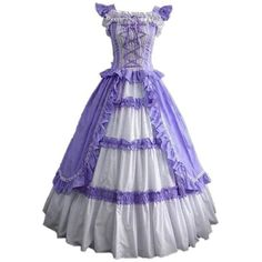 Amazon.com: CosplayDiy Women's Square Neck Lolita Victorian Dress... ($89) ❤ liked on Polyvore featuring costumes, lady halloween costumes, ladies halloween costumes, womens victorian costume, ladies costumes and ladies victorian costume