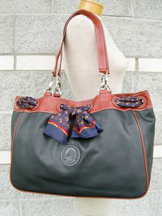 LILO Collections - Susana - Leather Scarf Handbag with equestrian horse accent - #581026