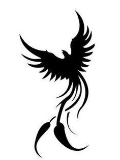 Tribal Phoenix Fire Tattoo..... looks so much like mine