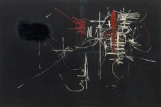 Georges Mathieu, Painting, 1952. Oil on canvas, 78 3/4 x 118 inches (200 x 299.7 cm)