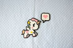 Kawaii Unicorn Hama Beads Keychain by CreepyMermaiid on Etsy Melty Bead Patterns, Perler Patterns, Beading Patterns, Hama Beads Kawaii, Hama Beads Design, Peler Beads, Square Patterns, Fuse Beads, Pony Beads