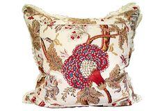 No longer on OKL  - please contact us @ 818-763-9770 to purchase. - Bennison Banyan & Matelassé Pillow   One Kings Lane $385 #InteriorDesign #Luxury #HomeDecor #Pillows