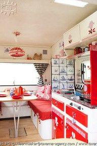 caravan kitchen, retro-cute