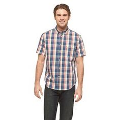 Men's Short Sleeve Plaid Shirt Blue - Merona. Get superb discounts up to 50% Off at Target with Coupons and Promo Codes.