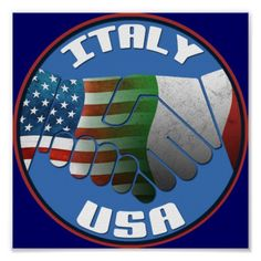Italy USA Friendship Poster