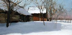 2014 lekka zima 20x40 olej-płótno