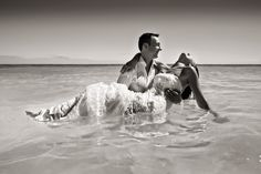 Sexy Day after Wedding Photo by Zasil Studios on the beach in Mexico | via junebugweddings.com
