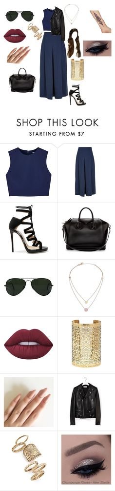 """Untitled #170"" by michellelopez5x on Polyvore featuring Alice + Olivia, TIBI, Jimmy Choo, Givenchy, Ray-Ban, Michael Kors, Lime Crime, Forever 21, Yves Saint Laurent and Topshop"