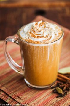 Skinny Pumpkin Chai Latte Recipe - there are just 143 calories in a serving in this warm, cozy pumpkin chai latte
