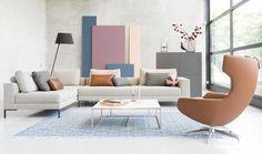 In vtwonen laten we niet alleen de stellen in het programma, maar ook jou als kijker weer verliefd worden op je huis. We geven maar liefst 3x Eijerkamp shoptegoed t.w.v. €350,-, 10x een persoonlijke wanddecoratie van Albelli en een Geberit AquaClean Sela douchewc weg. Wat is jouw favoriet?(promotie) Sofa, Couch, Scandinavian Living, Egg Chair, First Home, Living Room Interior, House Colors, Floor Chair, Modern Design