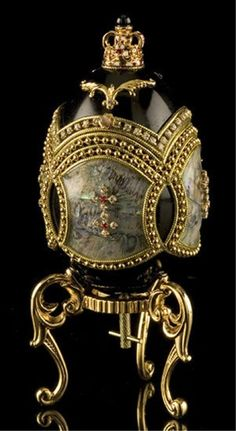 Faberge Inspired Midnight Egg