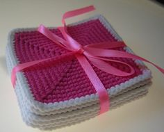 Colorful Coasters Set by MomDaughterCraft on Etsy, €13.00