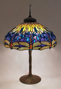 Bedside Lamp, Stained Glass Lamp, Tiffany Lamp, Standing Lamp ...