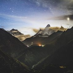 Photo by @renan_ozturk  Since Im still under a sinus sickness spell from my recent trip to Nepal @jetbutterflies so sharing his visceral words with a photo of Ama Dablam just before sunrise. Anybody whos been to the Everest region can probably relate  Khumbu Cough. Its early morning now and Im on a train to the airport. The sun is crawling up over London grey and serious plated with gold. The train cab is heavy with our silence and our luggage. We look down at our feet. We wonder if we will…