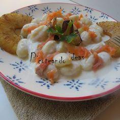 ñoquis con salsa de piña