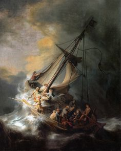 Rembrandt van Rijn - Christ in the storm on the lake Genezareth