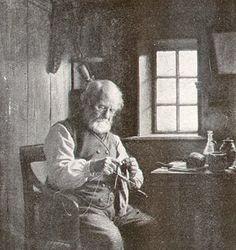 A Knitting Fisherman, Julius Exner, 1900, From 'Guide til Fanø'sHistorie' (www.mitfanoe.dk)