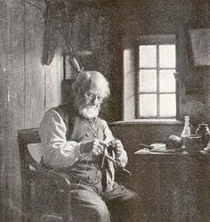 A Knitting Fisherman, Julius Exner, 1900, From 'Guide til Fanø'sHistorie' (www.mitfanoe.dk)