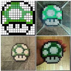 Mario mushroom perler beads by jhento