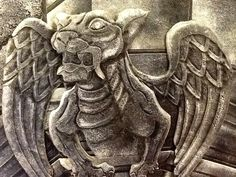 This is a 5 stage leather mural that I finished for a contest in Fairhaven. I chose to recreate one of Frank C. Graces photographs of a gargoyle from the Unitarian Memorial Church.