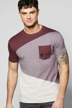 Spliced Pocket T Shirt at boohoo.com