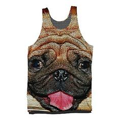 jcp | Pug Sublimated Tank Top