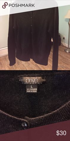 Prive 100% Cashmere Cardigan Like new. Sweaters Cardigans