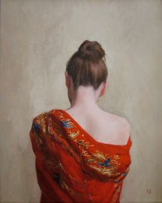"Saatchi Art Artist: Stephanie Rew; Oil 2011 Painting ""The Red Shawl"""