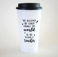"""""""Change the World"""" Travel Mug   Teacher Gift – Bored Teachers"""