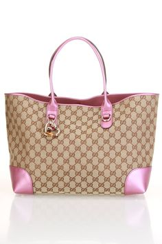 Gucci Ladies' Bamboo Heart Tote In Pink - I think I need this!?