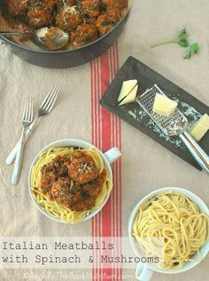 The best Italian meatball recipe - plus, they're affordable, easy to make, and healthy too! Serve alone or over spaghetti. Best Italian Meatball Recipe, Italian Meatballs, Meatball Recipes, Italian Recipes, Beef Recipes, Recipies, Healthy Dinner Recipes, Whole Food Recipes, Spinach Stuffed Mushrooms