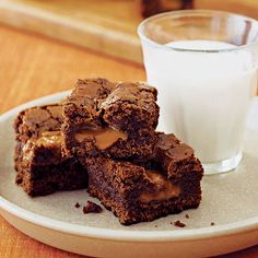Caramel Brownies | Chris Schaefer started with her grandmother's handwritten brownie recipe, then added caramels. We couldn't decide which we liked better, the crunchy outside pieces or the gooey inside ones. Leftovers are unlikely, but you can store the brownies airtight up to 1 day.