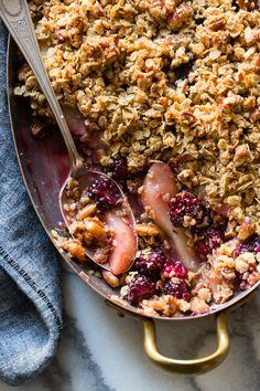 Blackberry, Pear & Ginger Crisp {gluten-free}