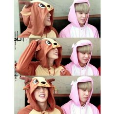 Mark and Yugyeom. Omg they are honestly so frekin adorable, not even kidding