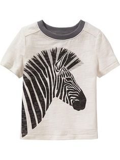 Zebra-Graphic Tees for Baby Product Image