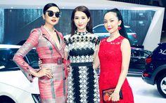 Thanh Hằng, Thu Thảo và Linh Nga hội ngộ tại sự kiện.