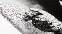 Sigmund Freud Pen Pointillism - detail