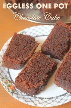 Eggless Whole Wheat Chocolate Cake Recipe - Christmas Recipes