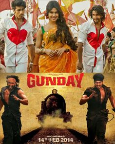 Gunday is a Bollywood hindi movie which actors are ranveer singh and arjun kapoor and actress is priyanka chopda.you can watch this movie on tvmovieswatch.com