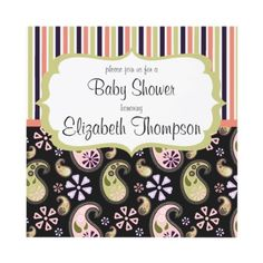 Paisley Delight Baby Shower Invitation